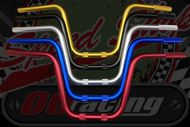 "Handlebar. Suitable for  use with Gorilla style bikes. ALLOY choice of colours 7/8"" (22mm) x 225mm rise."