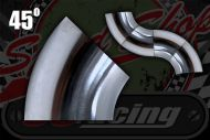 Stainless 304 exhaust/inlet pipe bends 45 degree Sizes OD from 25mm to 51mm