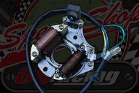 Stator. Common top mounted starter motor type