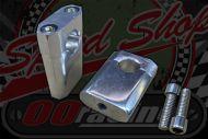 Bar risers single bolt 45mm rise billet alloy