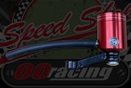 Brake reservoir kit CNC RED for front or rear brake with bellow seal with pipe and clips.