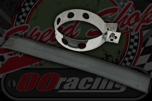 Exhaust strap stainless round 85/90mm
