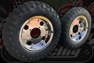 "8"" Wheel kit. Pre built. A great upgrade wit GB tyres over size rear 4.00."