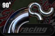 Stainless 304 exhaust/inlet pipe bends 90 degree Sizes OD from 25mm to 51mm