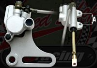 Rear brake kit single pot 31mm piston steel bracket 180/190 brake disc