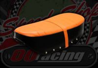 Seat. Dax 12V. Orange Topper and strap. Black sides. Suitable for use with DAX 12V