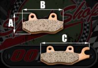 Front brake pads EBC HH sintered for Skyteam ACE 50 qnd 125 bikes