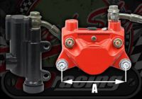 Rear brake kit Over size caliper type STUNTING RED BLACK OR SILVER