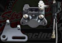 Rear Mini brake caliper kit 180mm twin pot CNC bracket 15mm axle with master cylinder