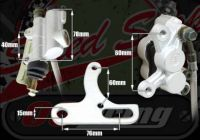 Rear brake kit Powerful 4 pot system