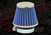 Air filter. 42mm. Cone. K&N style blue