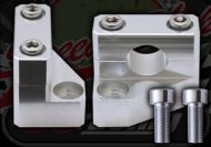 Handlebar. Component. Clamp. Riser. 30mm rise. CNC. Billet alloy. Instep type. 7/8th or 22mm bars. 10mm top yoke bolts