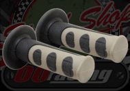 Grips. Pair. Soft. 606's. 2 part with anti slip off. 7/8th (22mm) Standard bars