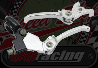 Lever. Clutch/Brake kit. Folding. Chrome, disc brake type