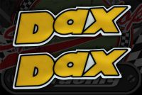 Sticker frame DAX yellow