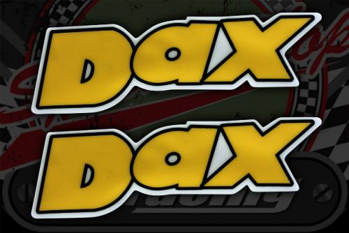 Sticker frame DAX yellow