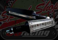 Flasher long taper CNC black 12v LED