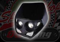 Head lamp twin spot halogen Flat or Magified lens halogen 12V