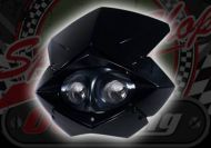Head lamp twin magnified halogens 12V enduro off road