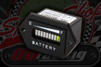 Battery indicator warning and charging light