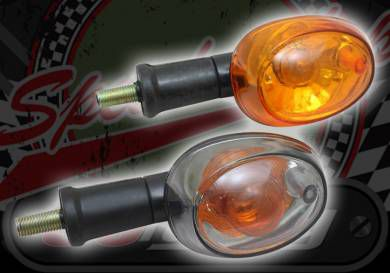 Flasher oval clear or amber 12V