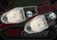 Flasher side mount adjustable head with mini back light black 12v LED