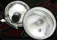 Head lamp suitable for monkey bike (2 bolt) CHROME OR BLACK RIM