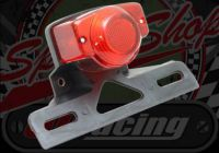 Rear light. Retro. Honda compatible with number plate holder