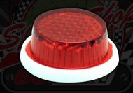 Reflector. Red. Mini. Stick on. 27mm. MOT pass