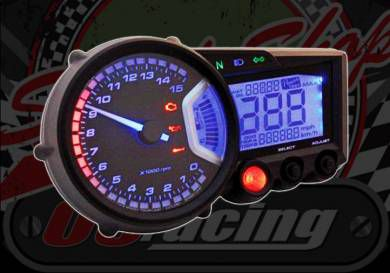 Clock. Koso. RX2. Tachometer and Digital Odometer. Universal