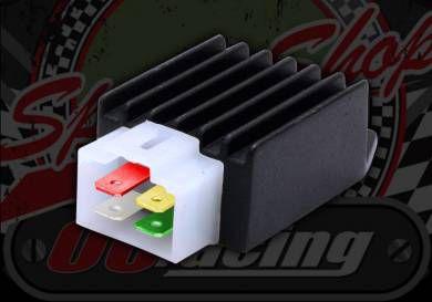 Reg Rec. 12v. 4 pin. SPLIT PHASE A/C lighting. D/C charging