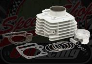 Cylinder kit. 57.0mm bore. 2 Valve. Ceramic coated. Big valve heads 27/23mm