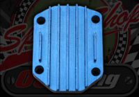 Head plate. CNC Blue. Big stud pattern 7mm. YX125-149, Lifan 125-150