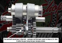 Gear box kit. YX125, YX140. Full kit. Bearing or needle roller type