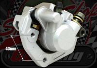 Caliper front or rear single pot 31mm piston with sinterd race pads
