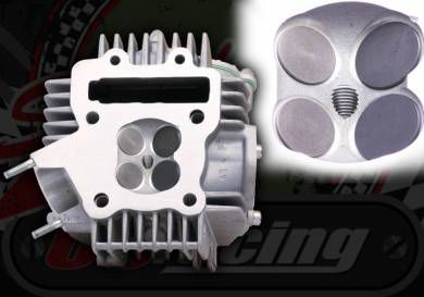 110cc Honda engine parts cylinder head with Gaskets 20mm and 23mm EX /& IN Valves