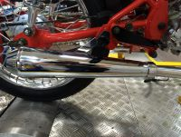 Exhaust system. Ace 125cc-250cc. Choice of end can
