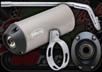 Exhaust. Complete.  PRO-BORE Racing System. Oval. Fits CRF style frames with Honda port. 30mm bore