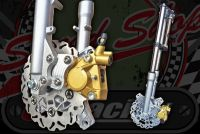 Fork kit 30mm, 200mm floating disc twin pot caliper conversion suitable for DAX ST Chaly