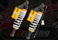 Shocks AP335mm gas piggy back for Ace 50 & 125 good damping White/Gold