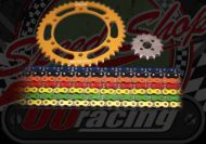 Chain and sprocket kit. 420 pitch. Choice of colours & sizes. Early type 50cc. Suitable for MadAss