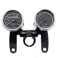 Clocks. Speedo & rev counter on bracket universal with ignition key bracket 67mm bezels