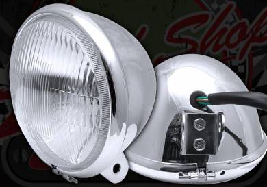 Head lamp Bottom mount E4 road legal, ACE 50 & 125 5