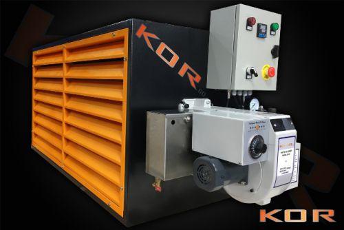 KOR 60KW Auto start Multi fuel workshop heater runs on New and used oils