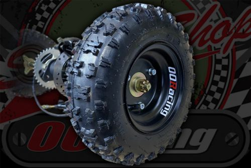 "Rear quad Axle complete 6"" wheels for project build up to 125cc"
