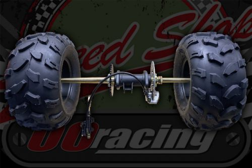 "Rear quad Axle complete BIG 8"" wheels for project build up to 300cc"