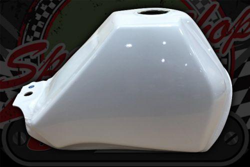Tank. Baja style. Fuel tank. pearl white