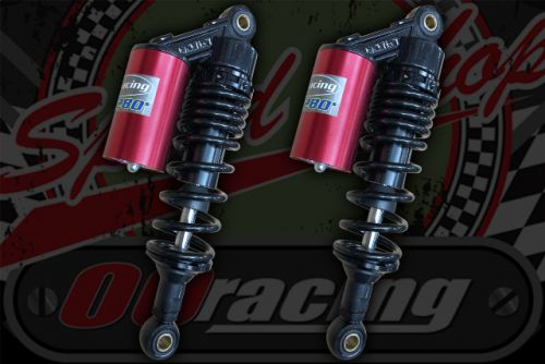 Shocks Piggy back AP280mm Red can Black springs