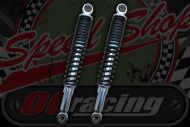 Shocks. 335mm Black/Chrome new better damping type. Suitable for DAX or Chaly