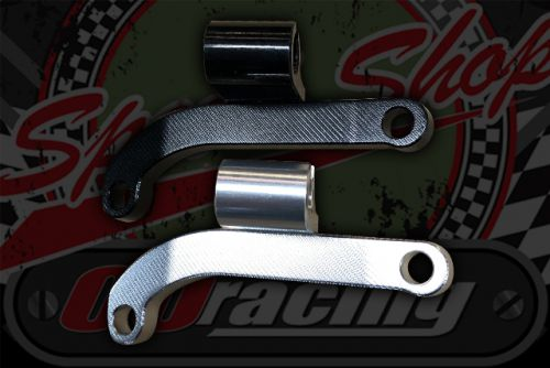 Clutch cable bracket CNC secondary type Black or Silver
